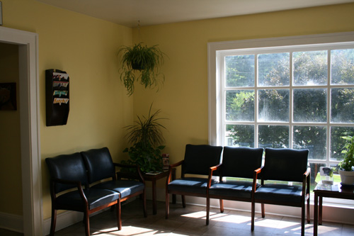 The warm, welcoming waiting room.